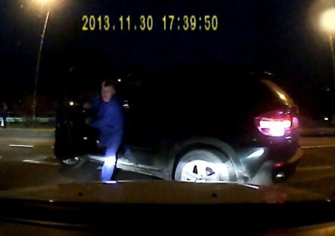 Agresywny kierowca BMW w Katowicach