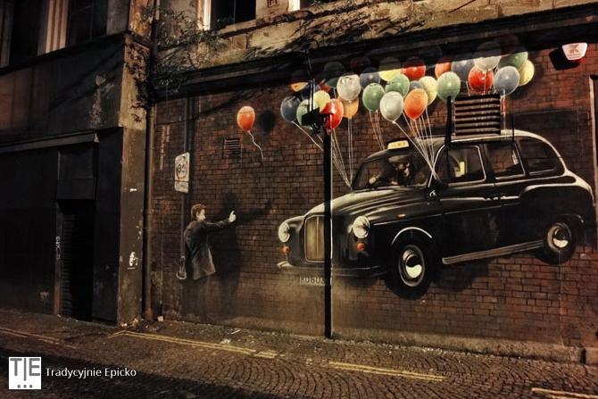 Glasgow street art Taxi Graffiti