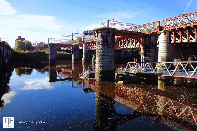 Glasgow rzeka Clyde most kolejowy