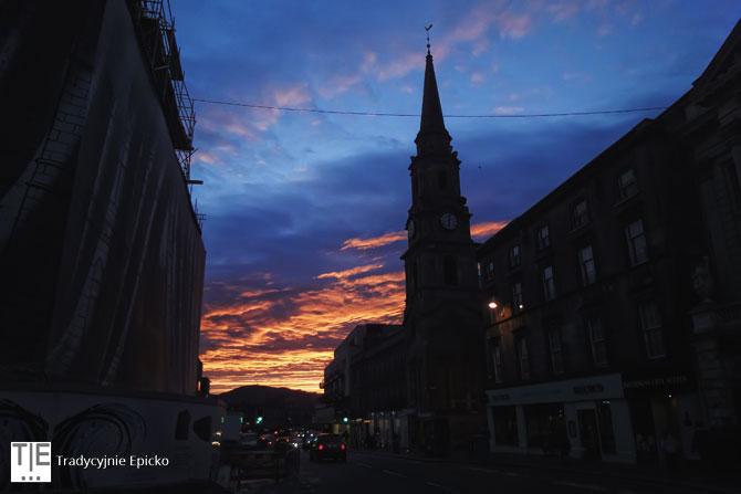 Inverness zachód słońca